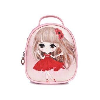 Summer travel gift bag girl children children Princess satchelbackpack shoulder bag----Pink-Lovely girl