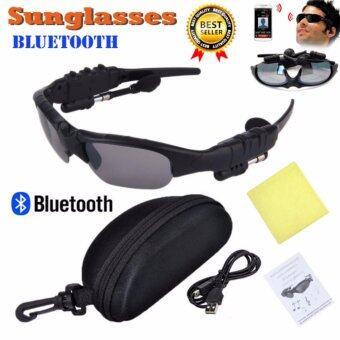 Sunglasses Bluetooth แว่นกันแดดบลูทูธพร้อมหูฟังสเตอริโอไร้สายเชื่อมต่อโทรศัพท์มือถือ Sport Style (Black/Black)