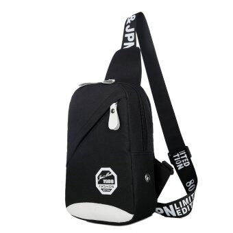 กระเป๋าสะพายไหล่ กระเป๋าคาดอก (สีดำ)