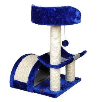 sureshopping คอนโดแมว catcondo บ้านแมว ที่นอนแมว รุ่น wood สีน้ำเงิน