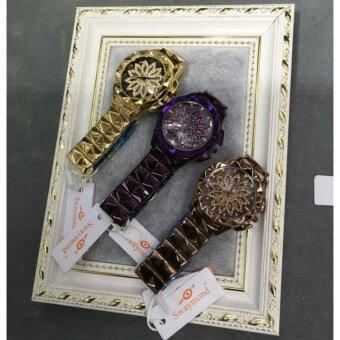 swaymond 100% นาฬิกาข้อมือผู้หญิง เสริมสิริมิงคล ข้างในหมุนได้ - 2