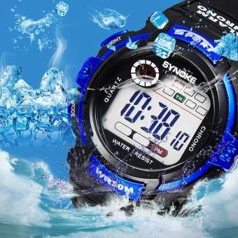 Synoke 99569 นาฬิกาข้อมือนาฬิกานักกีฬาว่ายน้ำด้วย led แบล็คไลท์ (image 1)