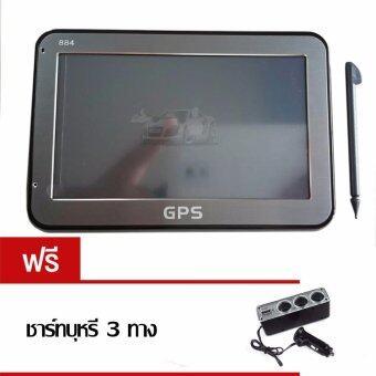 Techincar GPS นำทาง รุ่น 884 หน้าจอ 4.3\ - สีดำ (ฟรี ที่ชาร์จ 3 ช่อง)