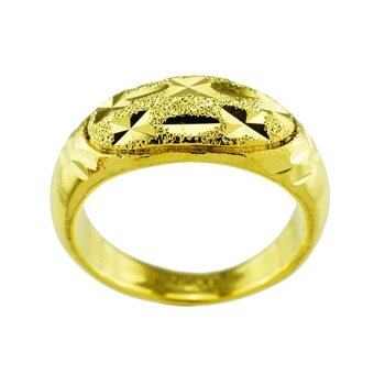 Tfine แหวนตัดลายเพชรชุบทองไมครอน
