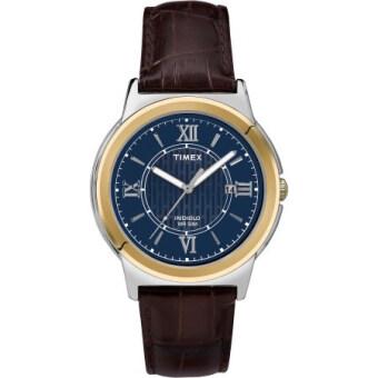 Timex นาฬิกาข้อมือผู้ชาย รุ่น Bank Street Watch Brown T2P521(สีน้ำตาล)