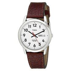 Timex Men's Easy Reader Brown Leather Watch #T20041 - Intl