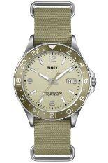 Timex นาฬิกาผู้ชาย สายผ้า รุ่น T2P035  - สีเบจ