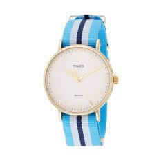 Timex นาฬิกาข้อมือผู้หญิง รุ่น TW2P91000 Fairfield Full-Size (สี Powder Blue- น้ำเงิน)