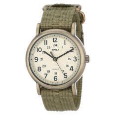 Timex Unisex T2N894 Weekender Olive Green Nylon Strap Watch - Intl