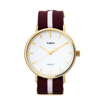Timex นาฬิกาข้อมือผู้หญิง รุ่น Weekender Fairfield Red-white TW2P97600 (สีแดง/ขาว)