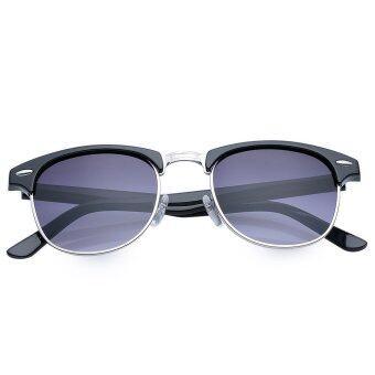 TimeZone Stylish Women's Full Frame Cool Sunglasses (Silver) - 2