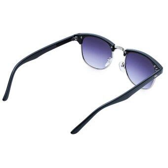 TimeZone Stylish Women's Full Frame Cool Sunglasses (Silver) - 5