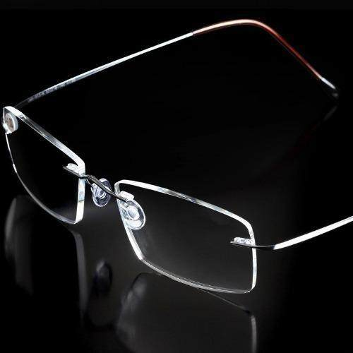 Titanium alloy Brand presbyopic glasses rimless Ultra light Spectacle frame men women reading .