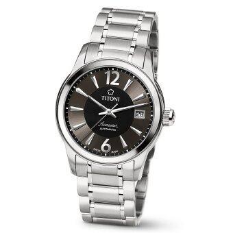 ราคา TITONI AirMaster Automatic Men s Watch Stainless Steel รุ่น 83933 S-324 - Silver/Black