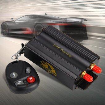 TK103B GPS/แกรม/GPRS ระบบติดตามรถพาหนะ+Conctrol รีโมท (สีดำ)