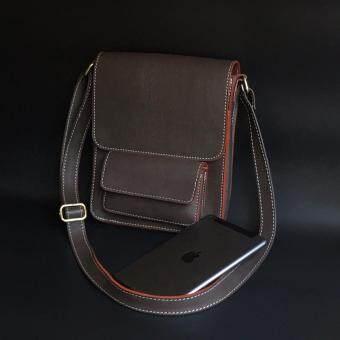 รีวิว กระเป๋าสะพายข้าง หนังแท้ สำหรับผู้ชายและผู้หญิง รุ่น TP095 สีดำ สีน้ำตาลเข้ม