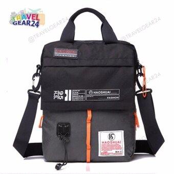 อยากขาย กระเป๋าสะพาย กระเป๋าถือ กระเป๋าเอกสาร กระเป๋าไนลอนกันน้ำ Crossbody Bag (Gray/สีเทา)