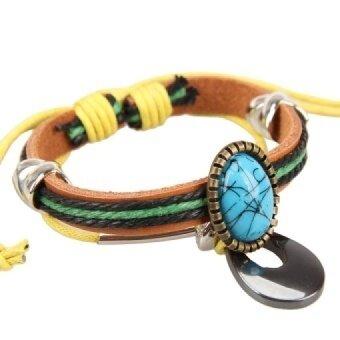 Trendy Girl Lady Braid Bracelet Gems String Band Bangle Beads