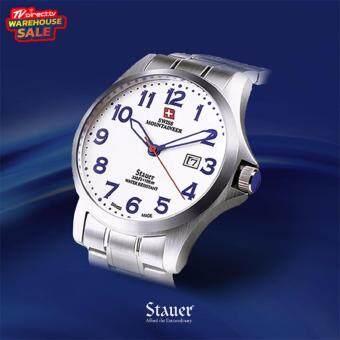 ประเทศไทย TVDirect เครื่องประดับนาฬิกาข้อมือ STAUER GENT S QUARTZ SML8031(Silver)