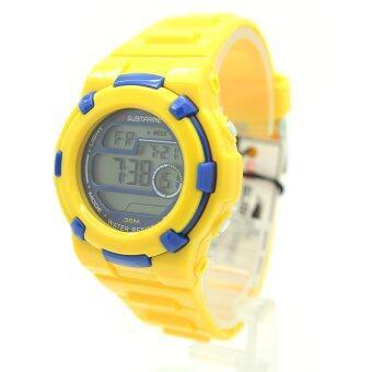 ราคา US Submarine นาฬิกาข้อมือผู้หญิงและเด็ก สายยางและซิลิโคน ระบบดิจิตอล USD-017 (Yellow-Blue)