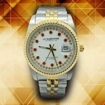 US SUBMARINEนาฬิกาข้อมือผู้ชายSTAINLESSสองกษัตริย์ รุ่นSUB108M DS/S