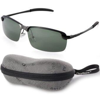 UV400กีฬากลางแจ้งสนามแม่เหล็กแว่นตาแว่นตากันแดดขับรถสีเขียว+สีดำกรอบOS390-SZ