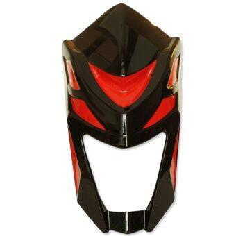 หน้ากาก+คาง V.2 (DTD) สำหรับ MSX (สีดำ/คลิบแดง)