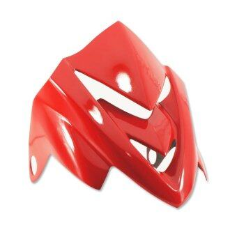 หน้ากาก (ชิวหน้า) V.8 MSX-125 งานไฟเบอร์ (สีแดง)