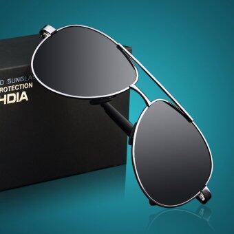 VEITHDIA 1306แฟชั่นแว่นกันแดดโพลาไรซ์ผลักดันสำหรับคนเจือสีเทากรอบสีเทาเลนส์