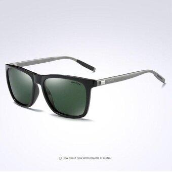 ราคา VEITHDIA 387 Fashion Alloy Frame Square Polarized Sunglasses MenDriving Glasses grey green – intl