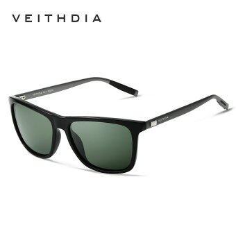 VEITHDIA Brand Unisex Retro Aluminum+TR90 Sunglasses Polarized Lens Vintage Eyewear Accessories Sun Glasses For Men/Women 6108(Green)