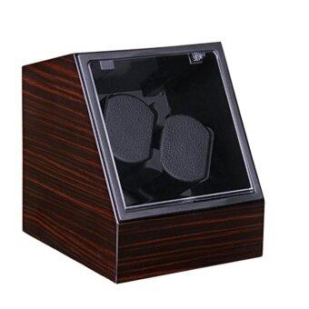Viiways High Quality Double Watch Winder in Ebony High Gloss - intl