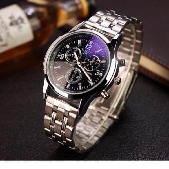 ราคา watch นาฬิกาข้อมือสุภาพบุรุษ สายสแตนเลส รุ่น 8008