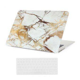 Welink 3 in 1 Apple MacBook Air 13\ Case / Marble Pattern Hard Case + Anti-dust Plug + Keyboard Cover for Apple MacBook Air 13\ [ Models: A1369 / A1466 ] (White)