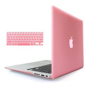 ขายด่วน Welink 3ใน1 ด้าน Apple MacBook Air 33.02ซมเคส/นิ่ม-แข็งพลาสติกฝาเคสTouch+ป้องกันฝุ่นปลั๊ก+แป้นพิมพ์ปกสำหรับ Macbook Air 33.02ซม [รุ่น:A1369/A1466] (สีชมพู)