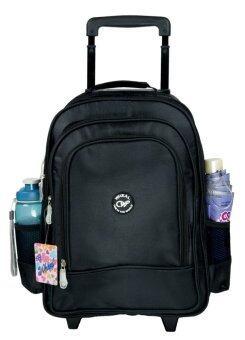 Wheal กระเป๋าเป้ล้อลาก กระเป๋าล้อลากนักเรียน กระเป๋าสะพายหลังล้อลากเด็ก 16 นิ้ว รุ่น 106 (Black)