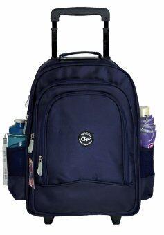 Wheal กระเป๋าเป้ล้อลาก กระเป๋าล้อลากสะพายหลังนักเรียน กระเป๋าล้อลากเด็ก 16 นิ้ว รุ่น 106 (Navy Blue)