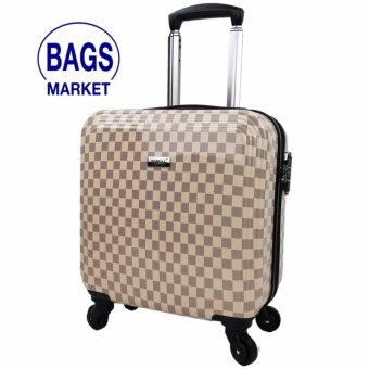 Wheal กระเป๋าเดินทางล้อลาก 16 นิ้ว 4 ล้อ หมุนรอบ 360° Polycarbonate Deluxe Louise Code PCN60016-5 (Cream)