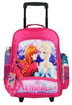 Wheal กระเป๋าเป้มีล้อลากสำหรับเด็ก เป้สะพายหลังกระเป๋านักเรียน 16 นิ้ว รุ่น Princess 82116 (Pink)