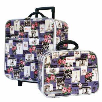 Wheal กระเป๋าเดินทางเซ็ทคู่ 16/12 นิ้ว Code 604907 Rose Eiffel (Purple)