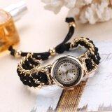 ผู้หญิงถักเชือกห่วงโซ่คดเคี้ยวนาฬิกาข้อมือควอตซ์แบบแอนะล็อก-นานาชาตินาฬิกาผู้ชายนาฬิกา