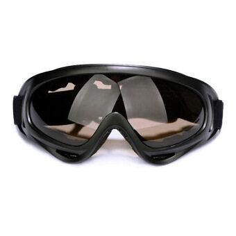 X400 ลมการขี่จักรยานมอเตอร์ไซค์ Airsoft\nจักรยานวิบากแว่นตาแว่นตาสวาท (สีน้ำตาล)
