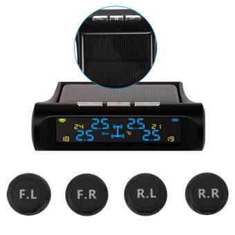 XCSOURCE ระบบตรวจวัดความดันยางรถยนต์แบบใช้พลังงานแสงอาทิตย์ ไร้สาย TPMS + 4 เซนเซอร์ภายนอก MA1075