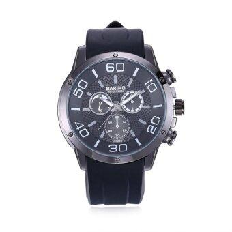 YBC Men Fashion Quartz Watch Silicone Band Waterproof Casual Watch