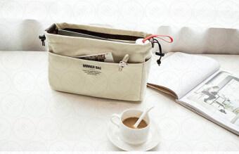 ประกาศขาย กระเป๋าจัดระเบียบ จัดเก็บอุปกรณ์ ผ้าแคนวาส เกรด พรีเมียมPremium Canvas Bag in Bag (สีครีม)