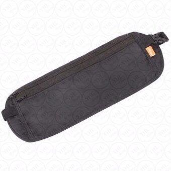 กระเป๋าคาดเอวสำหรับใส่เงินและหนังสือเดินทาง(สีดำ)