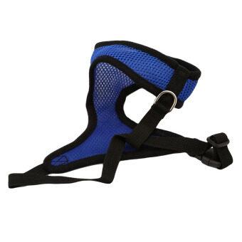 YingWei Pet Puppy Dog Fashion Safety Adjustable Harness EasyControl Mesh Vest Leash Chest Straps Belt Blue & S - 5