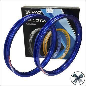 YOKO (โยโก) วงล้อ สีน้ำเงิน อลูมิเนียม ขอบเรียบ 1.40 ขอบ 17 สำหรับ รถจักรยานยนต์ทั่วไป