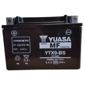 YUASA แบตเตอรี่แห้ง (แยกน้ำ) รหัส YTX-9BS สำหรับ NINJA250L NINJA300 NINJA-1000 BN300BN600 Z800 Z1000 (นำเข้าจากญี่ปุ่น)
