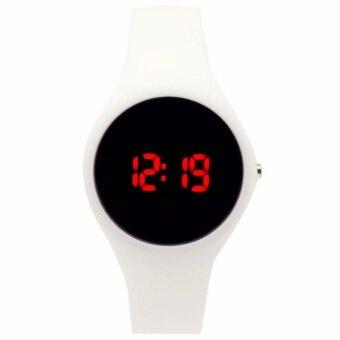 Zazzy Dolls นาฬิกาข้อมือผู้หญิง สไตล์ Sport Digital LED Watch Watch ไฟ LED ส่องสว่าง ตั้งปลุกได้ สายเรซิ่นสีขาว รุ่น ZD-0103 สีขาว (White)